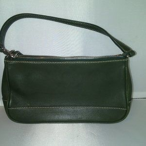 Green Coach small Leather Handbag